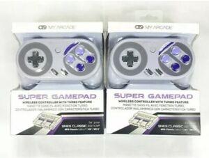 ✅X 2 My Arcade Super Gamepad SNES Classic Controllers Wii+Wii U NES (lot of 2)