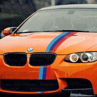 "48"" BMW M-Power 3-Colored Racing Body Stripe Decal Custom DIY Sticker 4ft"