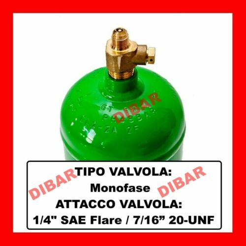 GAS REFRIGERANTE R404A DA 1 LITRO NETTO 750 GRAMMI