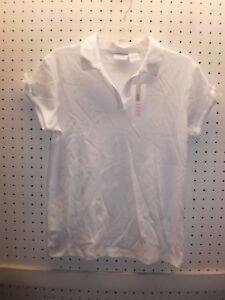 1214d6d5ce130 IZOD Gir s M PLUS Fit White V-Neck Easy CareTop - Appd Schoolwear ...