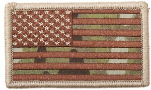 Multicam-Camouflage-USA-Drapeau-Patch-avec-Crochet-Support-rothco-17771
