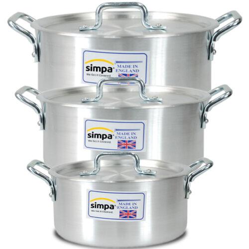 "7/"" 8/"" 9/"" Casserole Pan Aluminium Cuisine Cuisson Pan Casserole Pot 3pcs valeur"