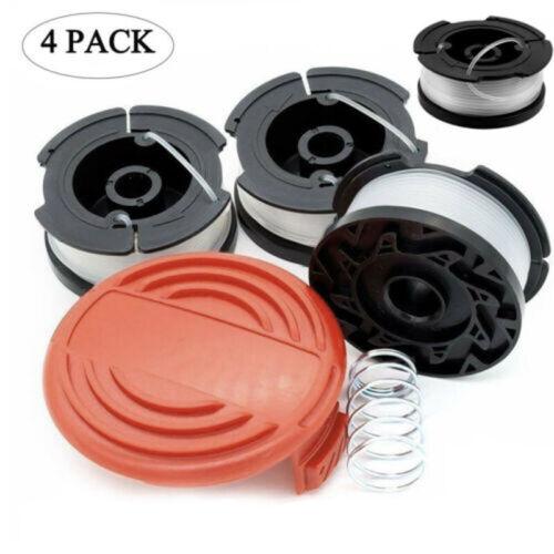 "Trimmer Spool /& Cap /& Spring 30ft //0.065/"" Line For Black Decker Cover Trimmer S2"