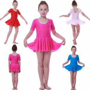 aa53ddd23 Children s Ballet Dress Leotard with Skirt Kid Girl Tutu Outfit ...