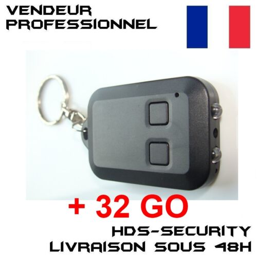 MICRO SD 32 GO VIDEO J021 DV PORTE CLE CAMERA ESPION CARLEDJ021 2x LED BLANCHE