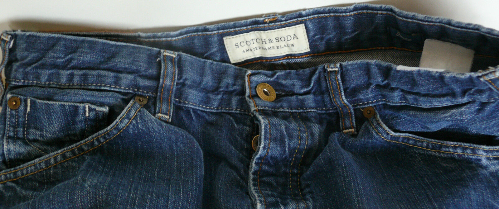 SCOTCH AND SODA MENS JEANS 32 X 32 AMSTERDAMS blueW HAPPY CHAP