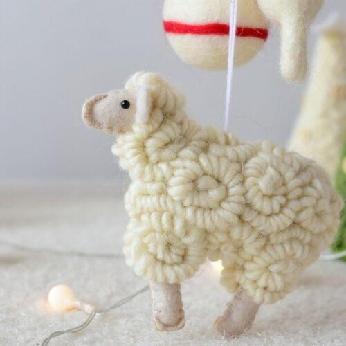 Holiday Seasonal Decor Handmade Christmas Tree Ornament Home Xmas Decor Little Lamb Wool Felt Animal Sudovyipysar Org Ua