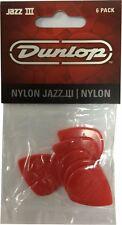 Jim Dunlop Jazz Guitar Picks-Rojo 6 III Pack