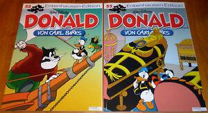 2-x-Carl-Barks-Walt-Disney-Entenhausen-Edition-Donald-Band-Nr-52-amp-53