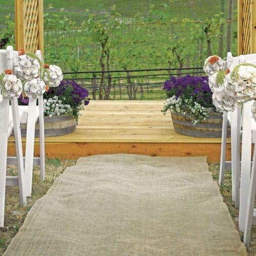 50 feet × 40 Wide Burlap Aisle Runner 100% Natural Jute Wedding Rustic Vintage