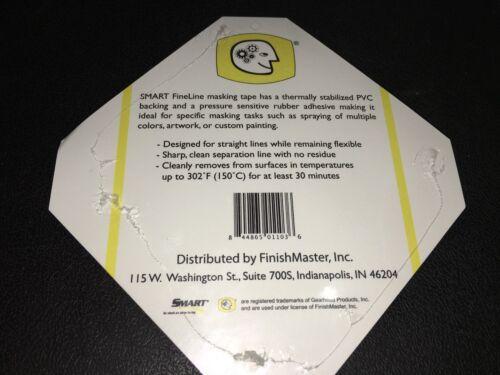 "Fine Line Paint Masking Flexible Tape 1//4/"" x 36yd Orange SHARP LINE PVC BACKING"