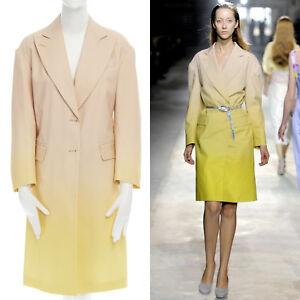 runway-DRIES-VAN-NOTEN-SS11-peach-yellow-ombre-oversized-cotton-coat-dress-XS
