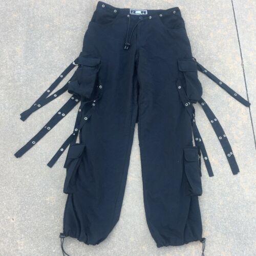 Vintage 90s R4R rave cargo bondage pants - Size Sm