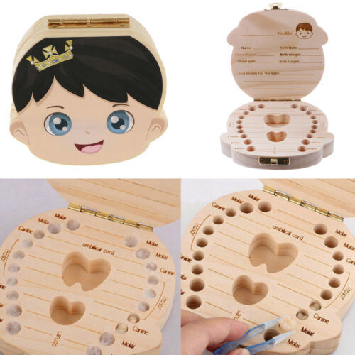 Wooden My First Tooth Curl Box Hair Save Lanugo Milk Tooth Box Tooth Album