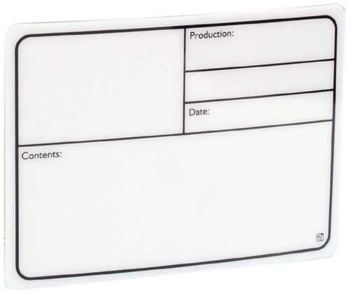 10 x Beschriftungsschild PVC Produktionsschild 177 x 127 selbstklebend Tourlabel