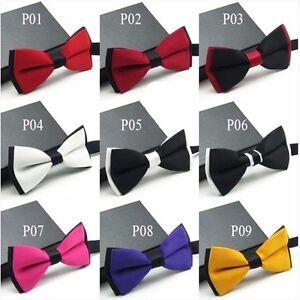 Mens-Fashion-Tuxedo-Classic-Adjustable-Wedding-Party-Necktie-Bowtie-Bow-Tie-NEW
