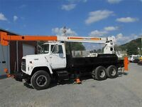 1986 FORD L8000 T/A STINGER CRANE 10-TON 56FT HEIGTH DIESEL   Boom Trucks