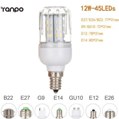 B22 E27 E14 G9 GU10 Dimmable LED Corn Bulbs 12W 18W 25W Light 4014SMD Lamp RP211
