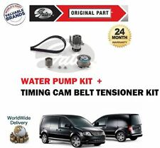 FOR VW CADDY + MAXI 1.9 2.0 2004-2010 NEW GATES TIMING CAM BELT + WATER PUMP KIT