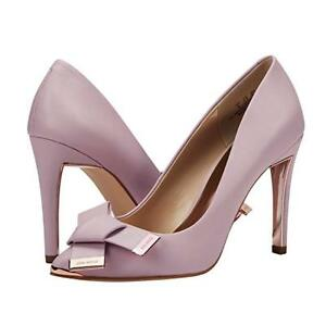 Women-s-Wedding-Party-Shoes-Stiletto-High-Heel-Pumps-Leather-Bowknot-Slip-On-8-5