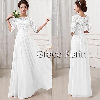 Chiffon Elegant Women Long Evening Formal Party Wedding Bridesmaid Dresses S-XL