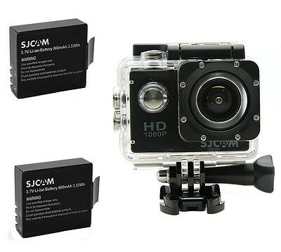 Original SJCAM SJ4000 12M HD 1080P Sports Action Camera Waterproof w/ 2x Battery