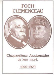 A-SAISIR-ENCART-DE-LUXE-FOCH-CLEMENCEAU-50eme-ANNIVERSAIRE-DE-LEUR-MORT