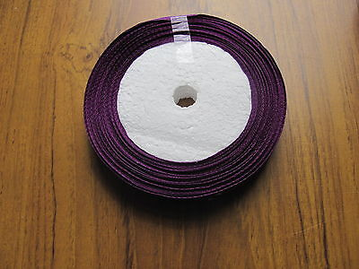 12mm satin ribbon 25yd 20m roll very good *SECONDS* shades of purple violet