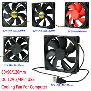 PC-Case-Cooling-Fan-80-90-120mm-DC-12V-3-4-Pin-USB-CPU-Computer-Cooler-Fans