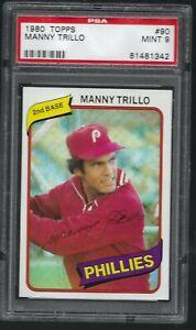 1980-Topps-Manny-Trillo-Philadelphia-Phillies-90-PSA-9-MINT-SET-BREAK