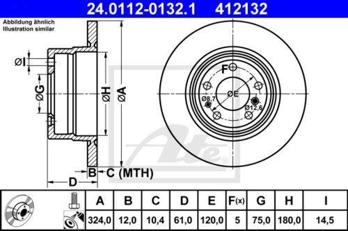 2x Unités antithrombine Disques De Frein Garnitures de freins complet Set Arrière BMW 3850916