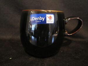 Denby-JET-BLACK-Coffee-Mug-Small-Curve-Brand-New