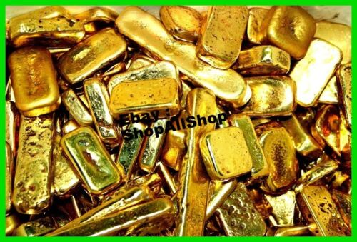 Scrap gold bar 77 grams for Gold Recovery melted different computer pins
