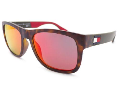 Tommy Hilfiger Sunglasses Matte Brown Tortoise Grey Red Mirror TH1556 063
