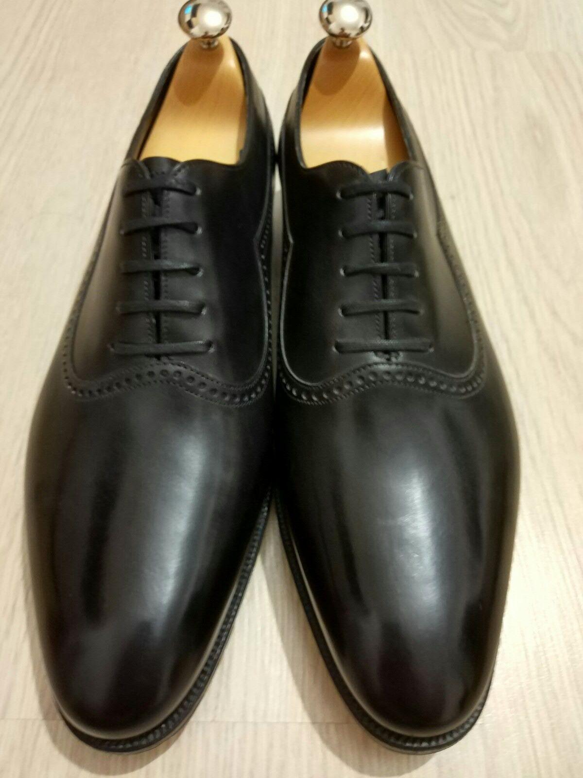 JOHN LOBB PRESTIGE Zapatos rojohley 9 Extra Ancho EE. UU. 9.5