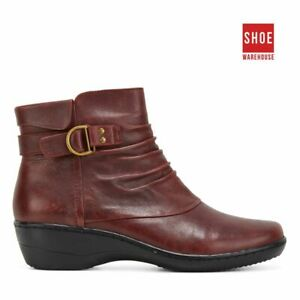 Natural Comfort KALA Red Womens Ankle Boot Casual Leather Boots