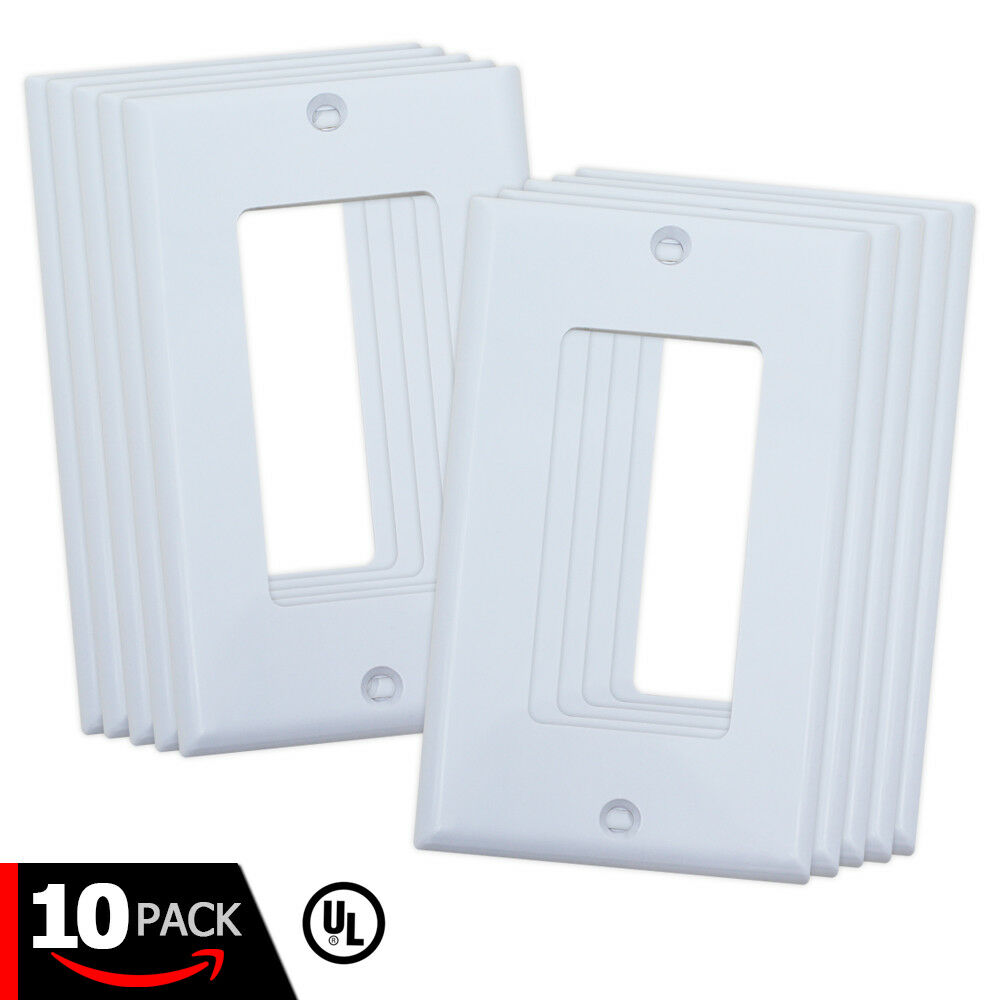 Details About Decora White Wall Plates With S For Light Switch Electrical Outlet Cover