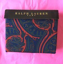 Ralph LAUREN SET PIUMONE DOPPIO (& 2 FEDERE) stampa Paisley nuovo in pacchetto