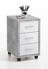FMD Rollcontainer DIEGO 2 Bürocontainer in Light Atelier Weiß mit Rollen Büro