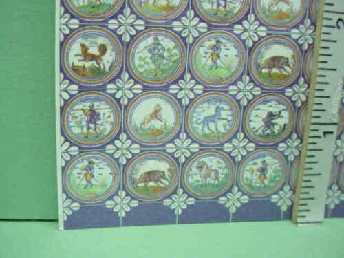 Dollhouse Miniature Delft Tile World Model #34432-1//12th Scale Multicolor