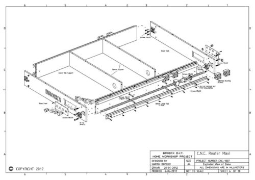 Milling drilling and Engraving DIY Plans Only CNC Maxi Router Table