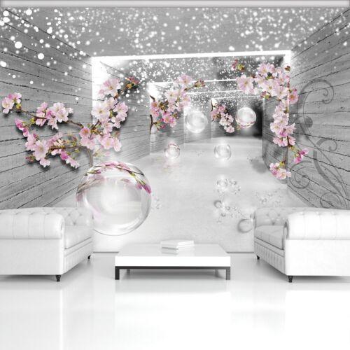 Vließ Fototapete Tapete Wandbild 3D Magischer Tunnel mit Blumen 320176/_VENMVT