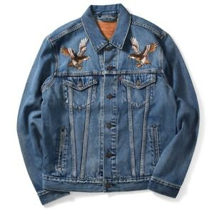 Levi S Limited Edition Men S Eagle Embroidered Denim Trucker Jeans