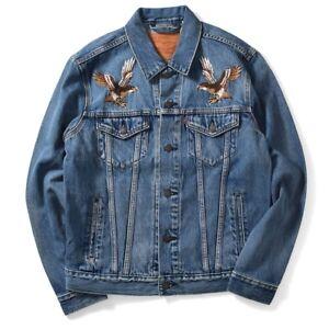 Détails sur Levi's Limited Edition Men's Eagle Brodé Denim Trucker Jeans Veste Neuf XL afficher le titre d'origine