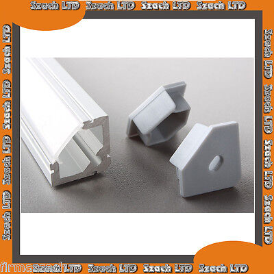 Aluminium  Strip Profile for LED  with Milked or Transparent Cover  1.5 m LL07