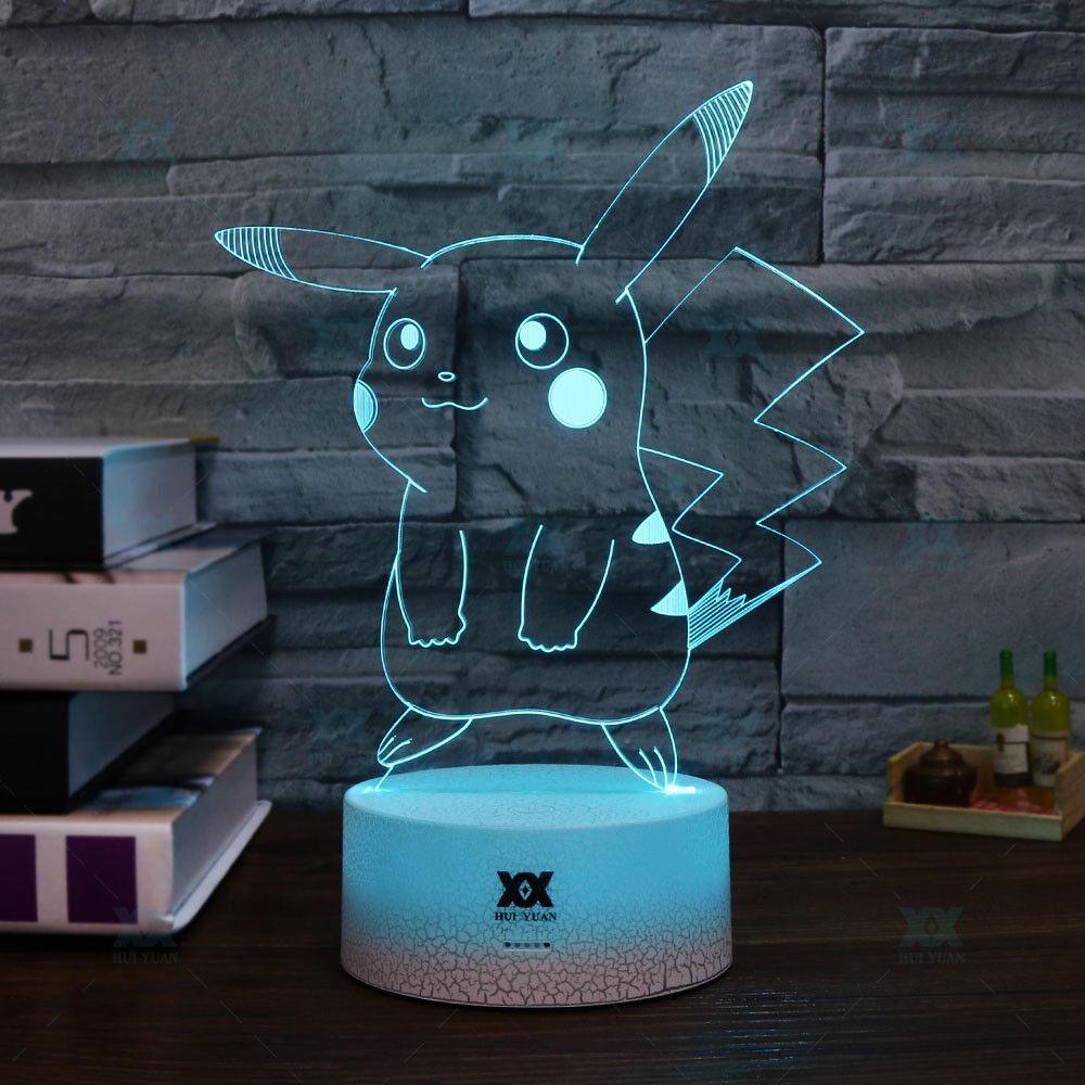 Pokemon Umbreon Pikachu 3d Lamp Acrylic Led Night Light