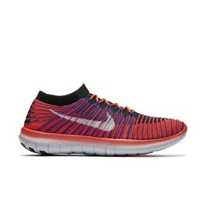 e71981e902b71 Nike Men s Free Run Motion Flyknit- Bright Crimson Racer Blue Black ...