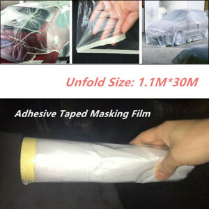 Car Body Adhesive Film Clear Spray Paint Cover Roll Sheet Dust Protector