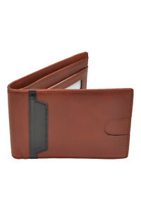 RFID-Blocking-Slim-Bifold-Minimalist-Front-Pocket-Cork-Leather-Wallet-CardHolder