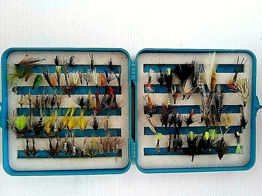 2 quality plastic cases of a selection of 150 trout fly's most...